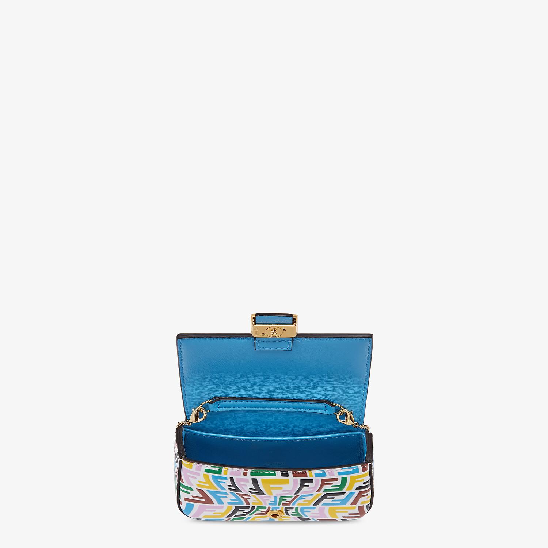 FENDI NANO BAGUETTE CHARM - Multicolor leather charm - view 4 detail
