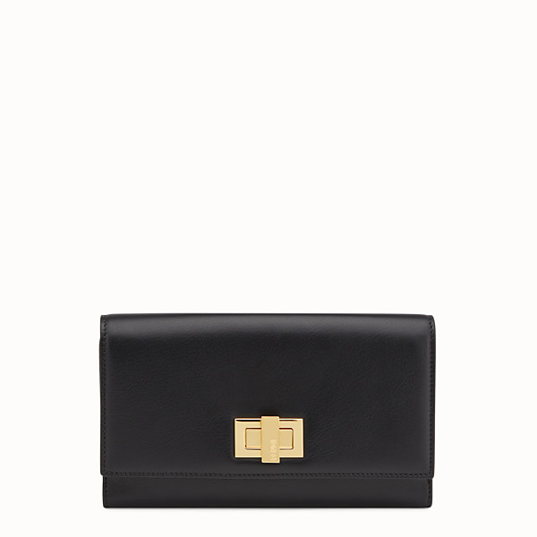 FENDI WALLET - in black leather - view 1 small thumbnail