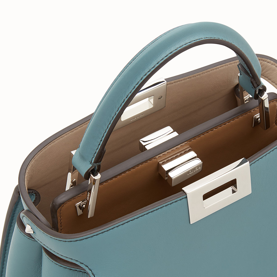 FENDI PEEKABOO ICONIC ESSENTIALLY - Light blue leather bag - view 6 detail