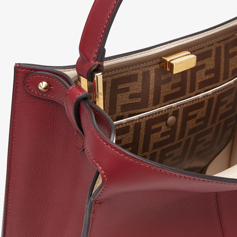 FENDI PEEKABOO X-LITE MEDIUM - Burgundy leather bag - view 7 detail