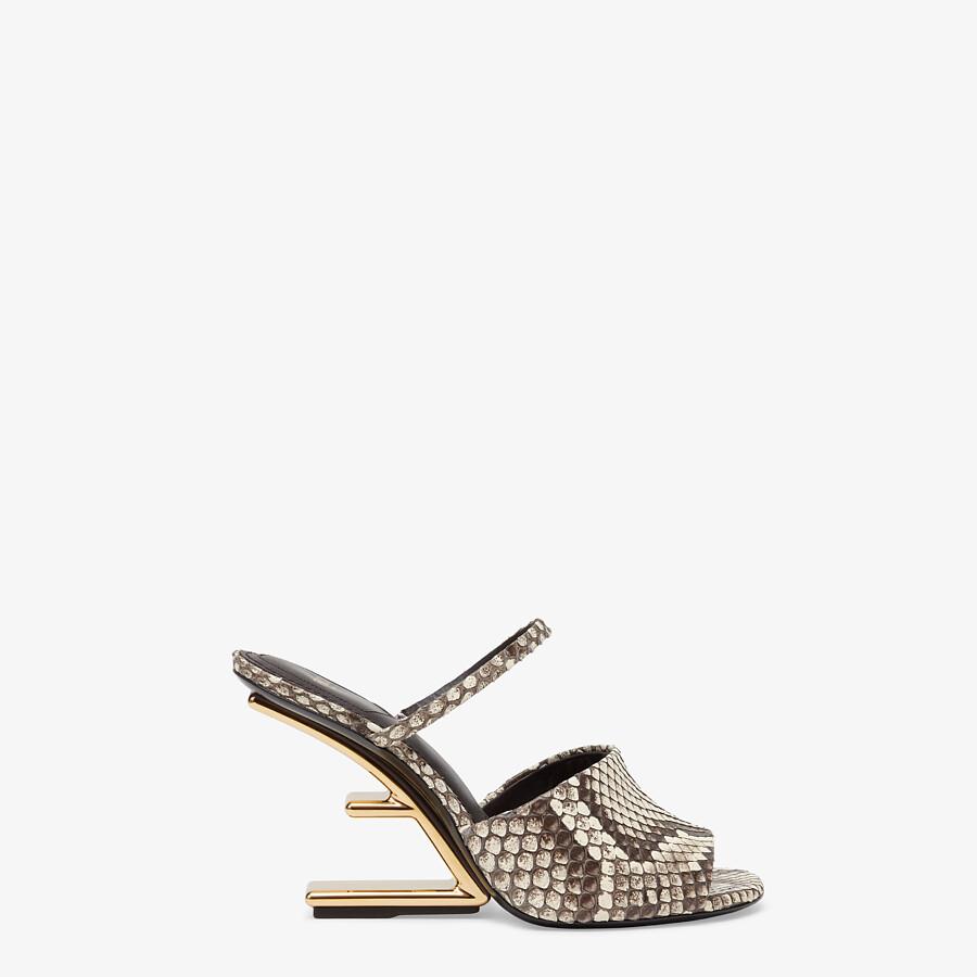 FENDI FENDI FIRST - Brown python high-heeled sandals - view 1 detail