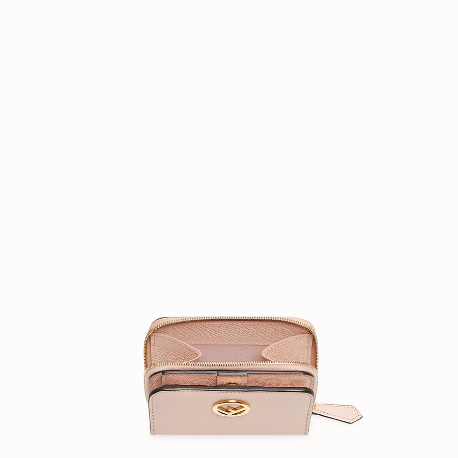 FENDI MEDIUM ZIP-AROUND - Pink leather wallet - view 3 detail