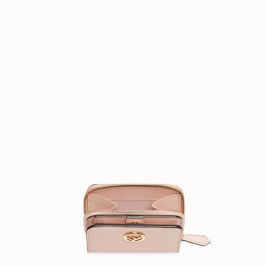 FENDI MEDIUM ZIP-AROUND - Pink leather wallet - view 3 detail