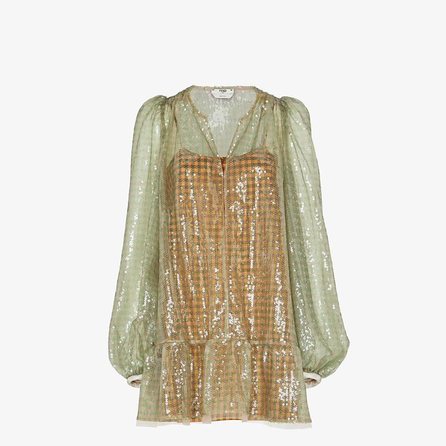 FENDI KLEID - Kleid mit Pailletten mit Vichykaros - view 1 detail