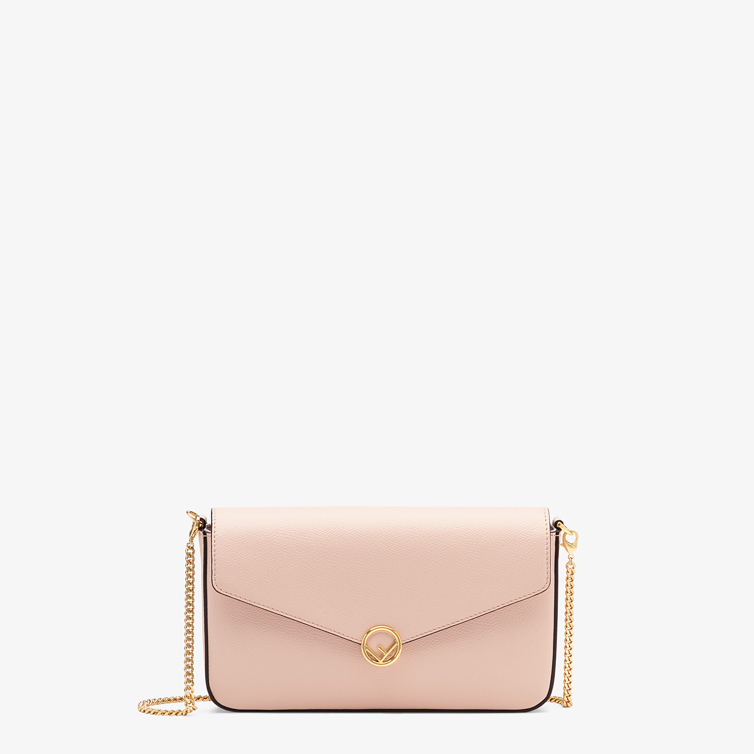 FENDI WALLET ON CHAIN MIT POUCHES - Mini-Tasche aus Leder in Rosa - view 1 detail