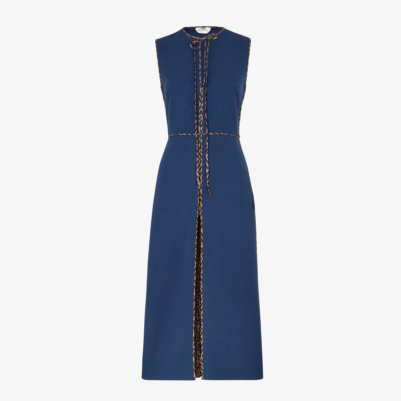 FENDI DRESS - Blue wool dress - view 1 detail