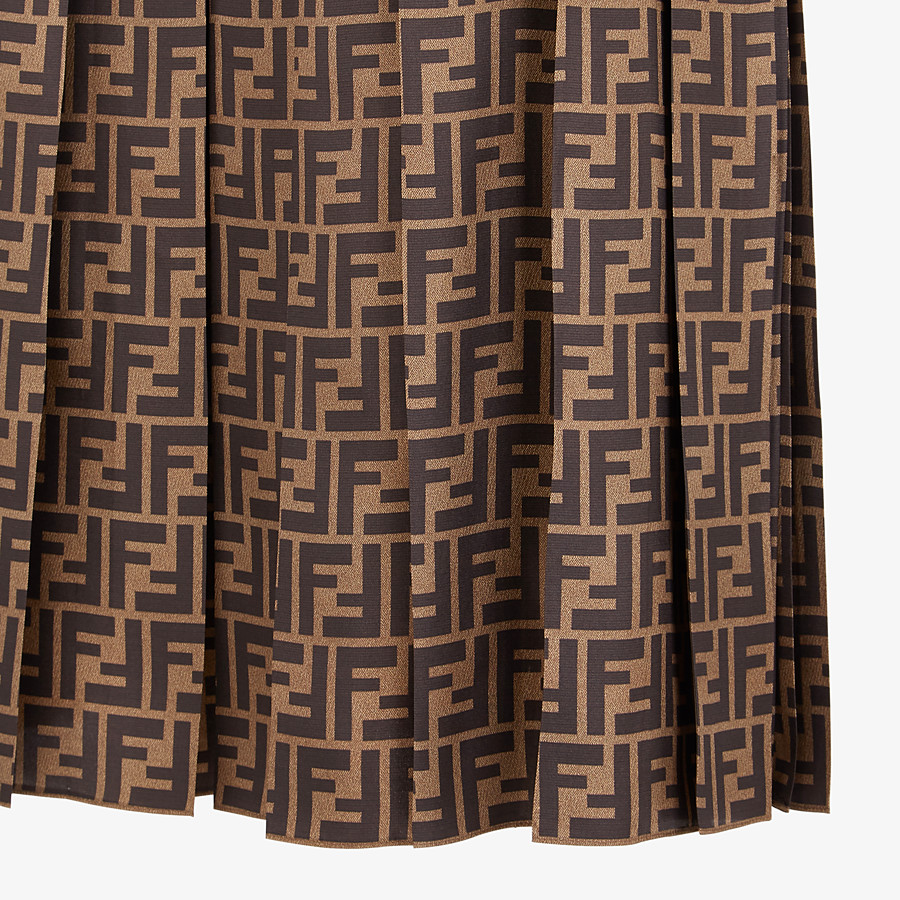 FENDI SKIRT - FF motif twill skirt - view 3 detail
