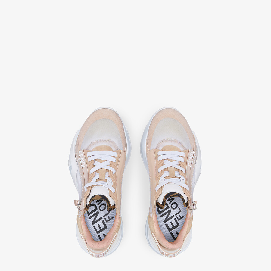 FENDI FENDI FLOW - Low top in pink nylon and suede - view 4 detail
