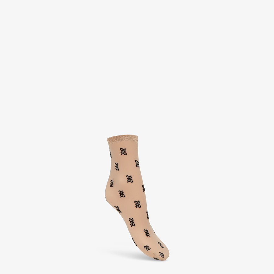 FENDI SOCKS - Nude nylon socks - view 1 detail