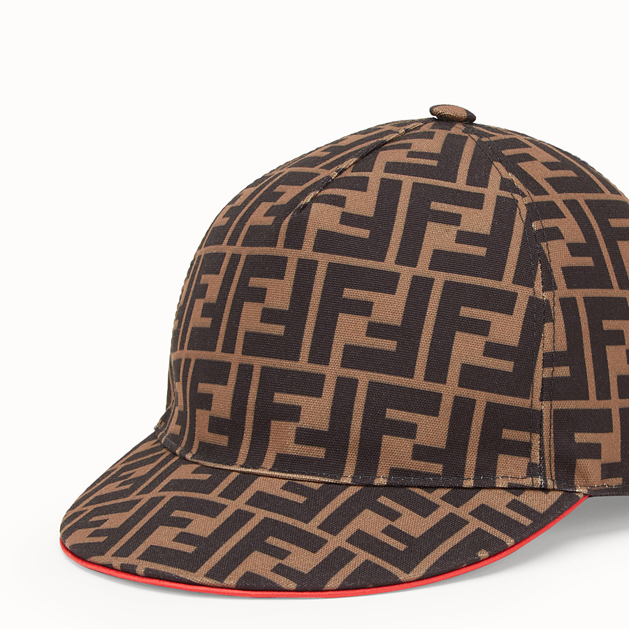 FENDI FENDIRAMA HAT - Multicolour fabric baseball cap - view 2 detail