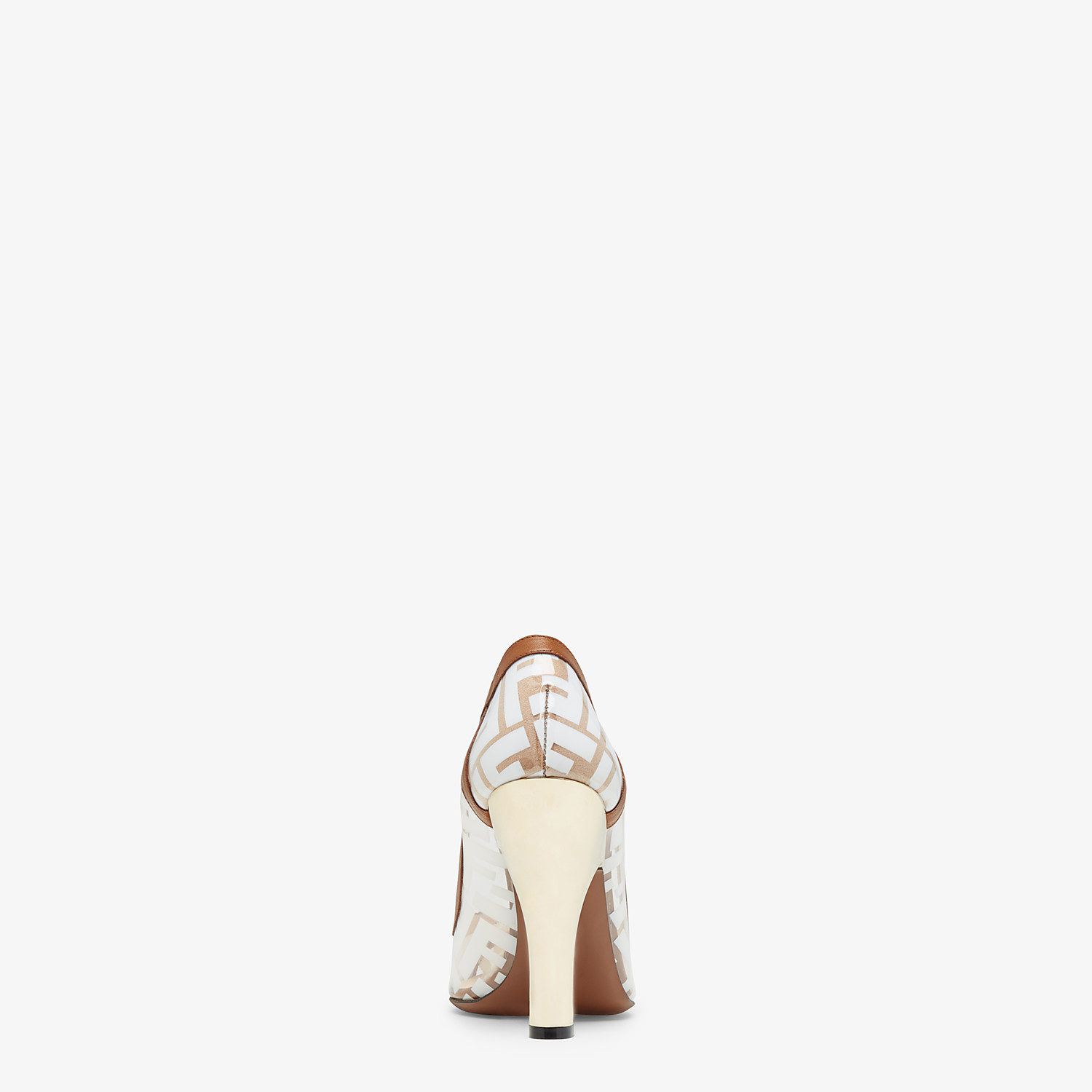 FENDI COURT SHOES - PU and white leather court shoes - view 3 detail