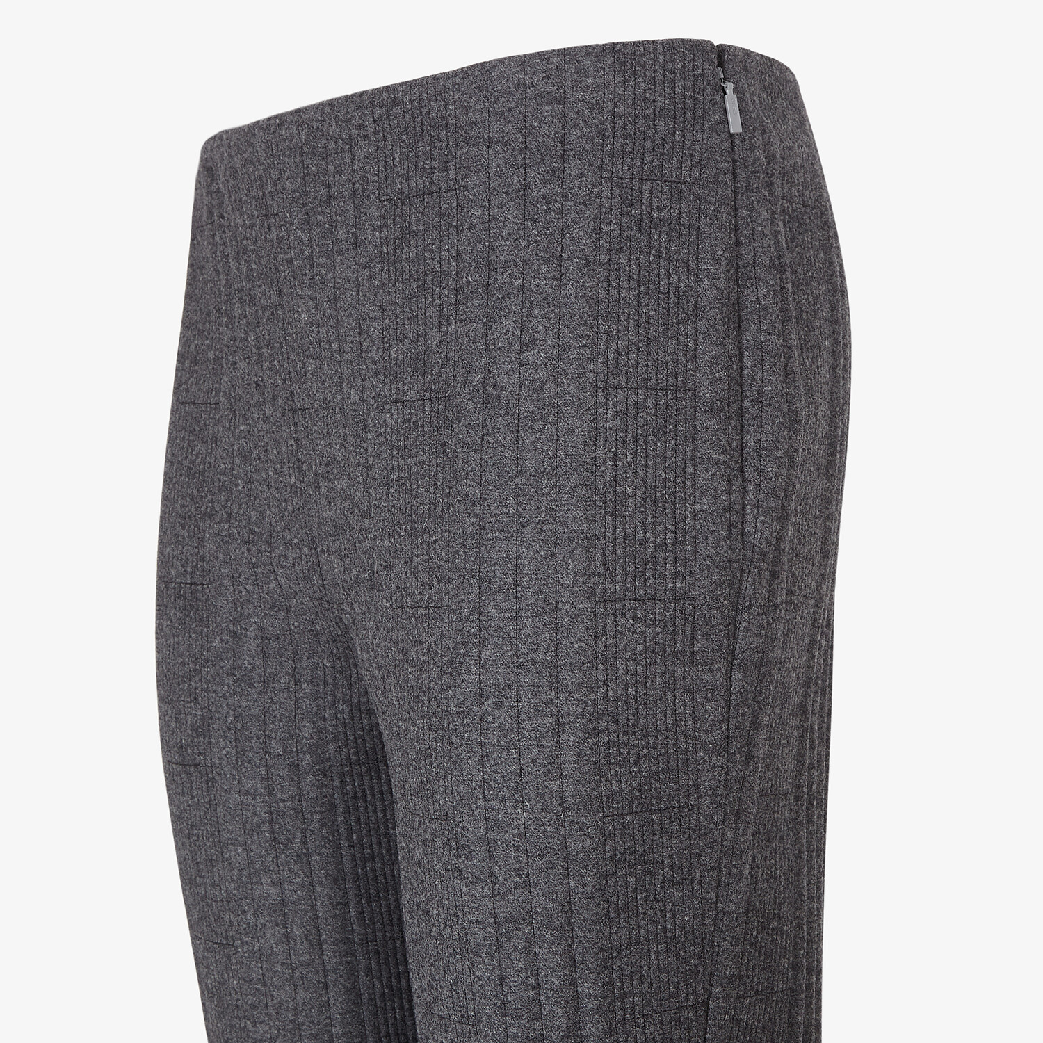FENDI TROUSERS - Grey cashmere and flannel trousers - view 3 detail