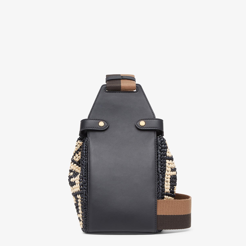 FENDI GUITAR BAG - Black raffia mini-bag - view 3 detail