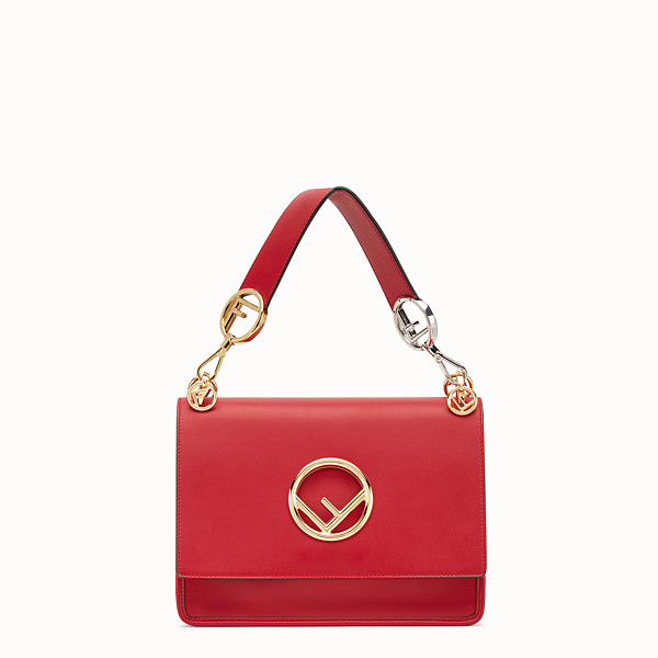 FENDI KAN I LOGO - Red leather bag - view 1 small thumbnail