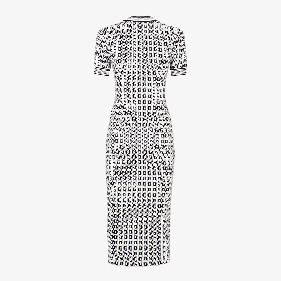 FENDI DRESS - White viscose dress - view 2 detail