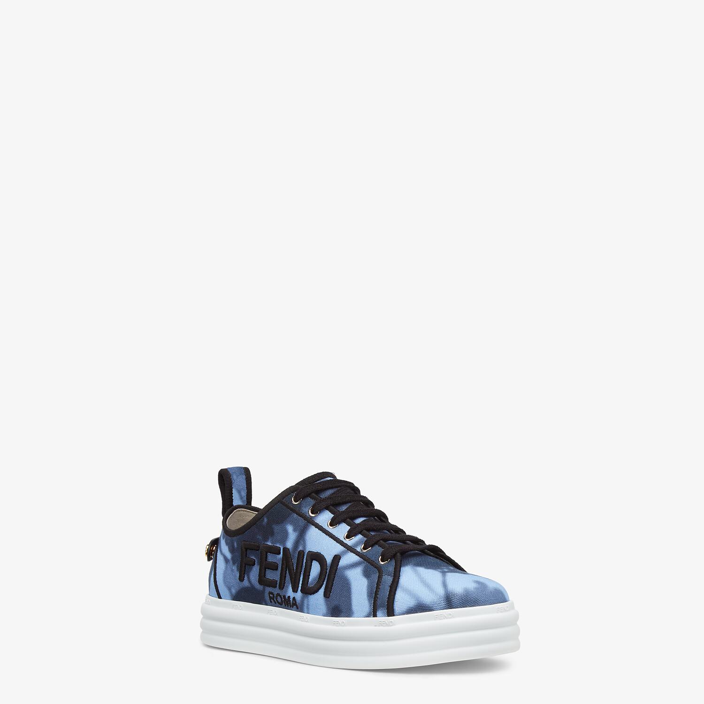 FENDI FENDI RISE - Light blue canvas flatforms - view 2 detail