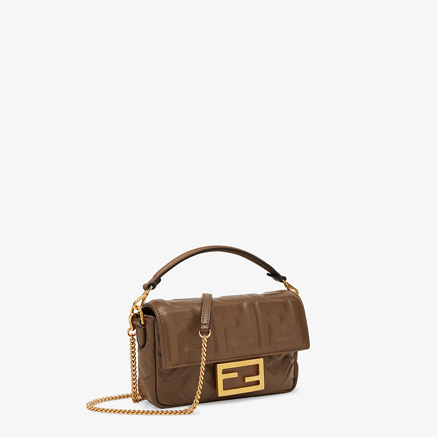 FENDI BAGUETTE - Brown nappa leather bag - view 2 detail