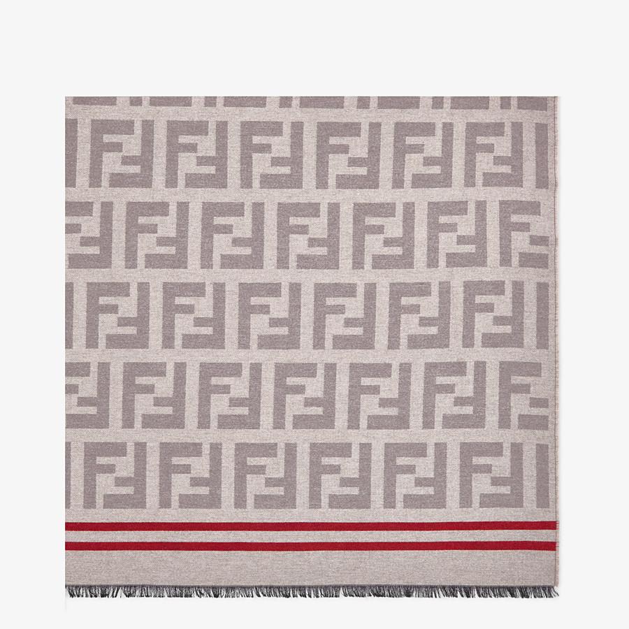 FENDI PLAID - Plaid aus Seide und Wolle in Beige - view 1 detail