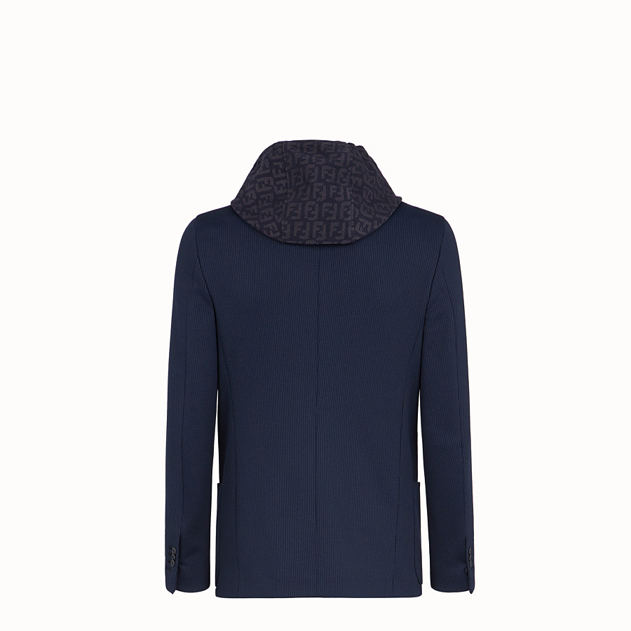 FENDI JACKET - Blue cotton jersey blazer - view 2 detail