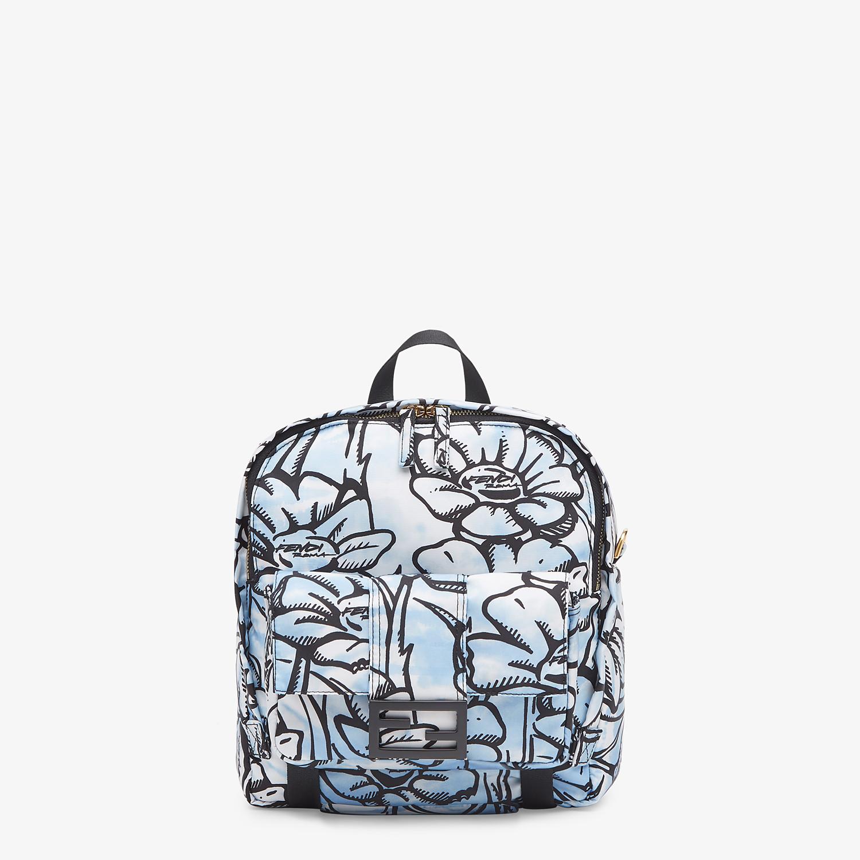 FENDI BAGUETTE BACKPACK - Floral-print nylon backpack - view 1 detail