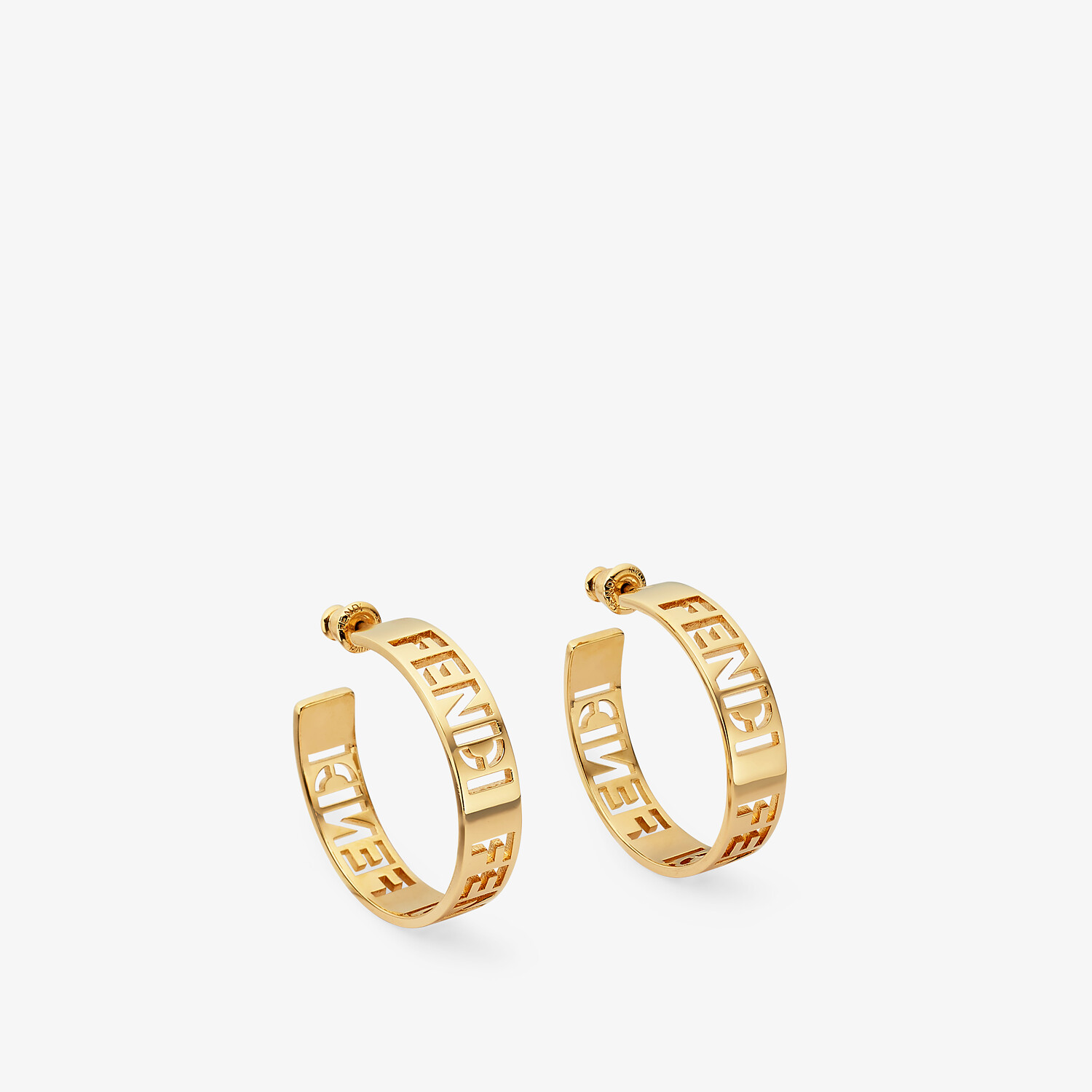 FENDI SMALL SIGNATURE EARRINGS - Gold-colored earrings - view 1 detail