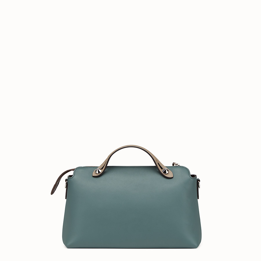 FENDI BY THE WAY REGULAR - Small green leather Boston bag - view 3 detail