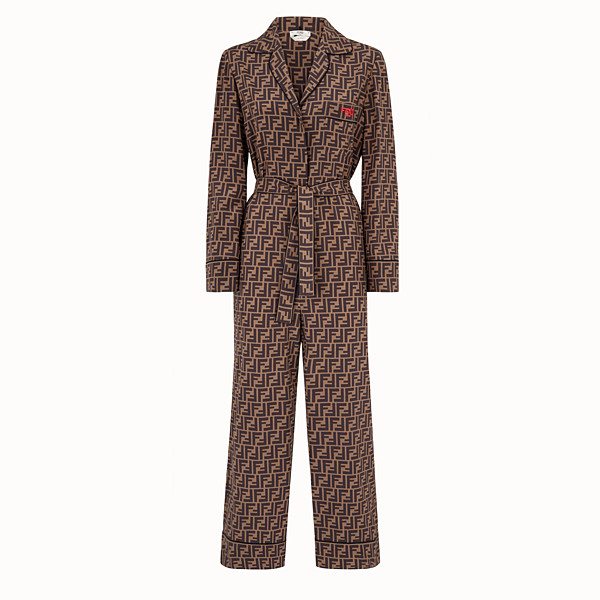 FENDI JUMPSUIT - Jumpsuit aus Crêpe de Chine Multicolor - view 1 small thumbnail