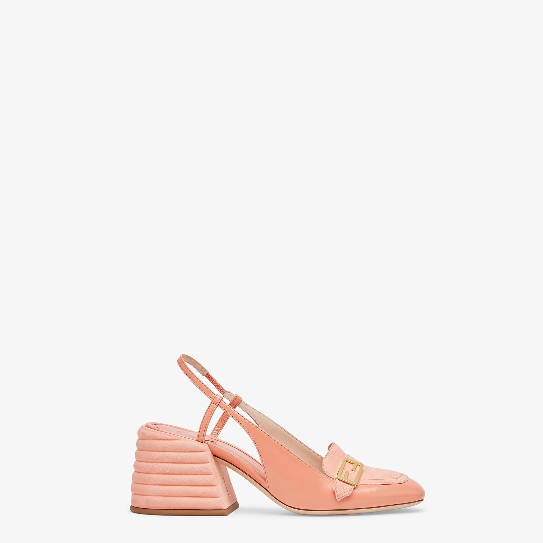 FENDI SLINGBACK - Promenade in pelle rosa - vista 1 dettaglio