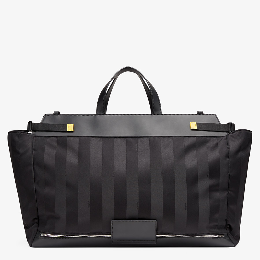 FENDI PEEKABOO ICONIC LARGE - Black nylon bag - view 3 detail
