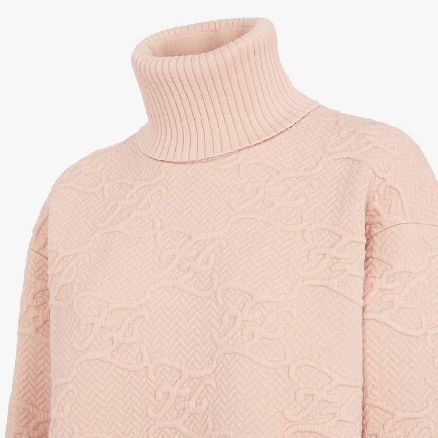 FENDI SWEATER - Pink wool and cashmere sweater - view 3 detail