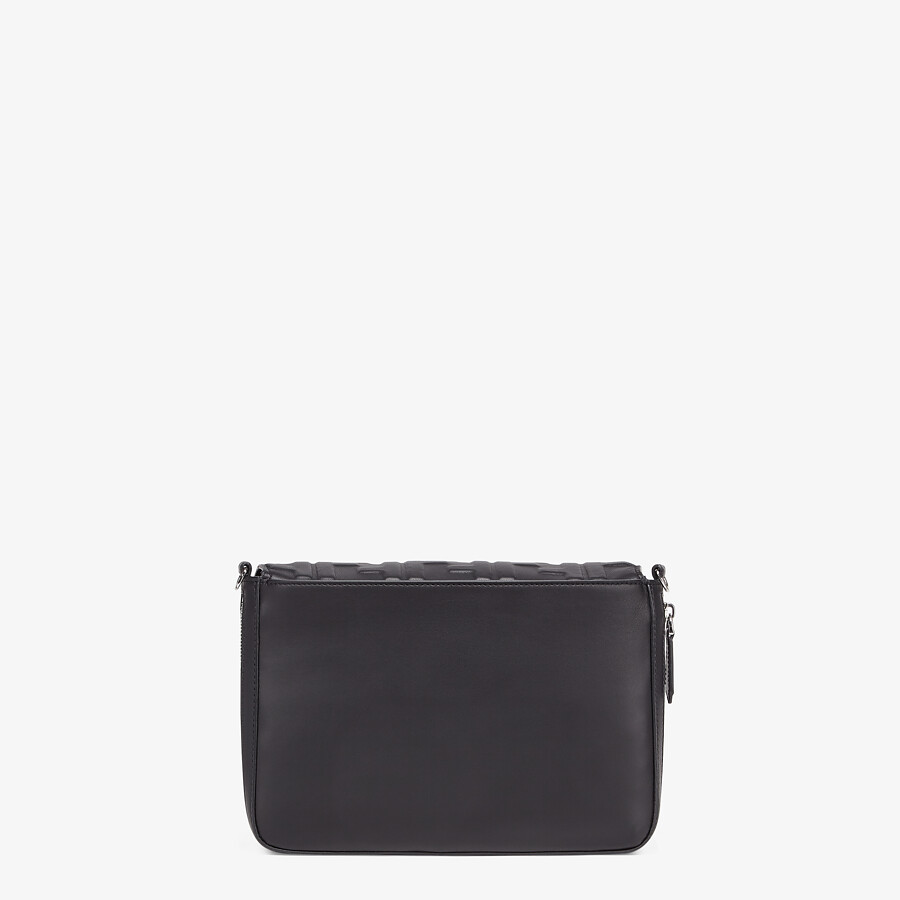 FENDI MESSENGER - Black nappa leather bag - view 4 detail