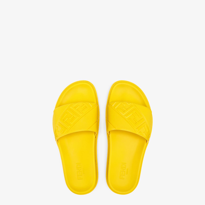 FENDI SLIDES - Yellow rubber slides - view 4 detail