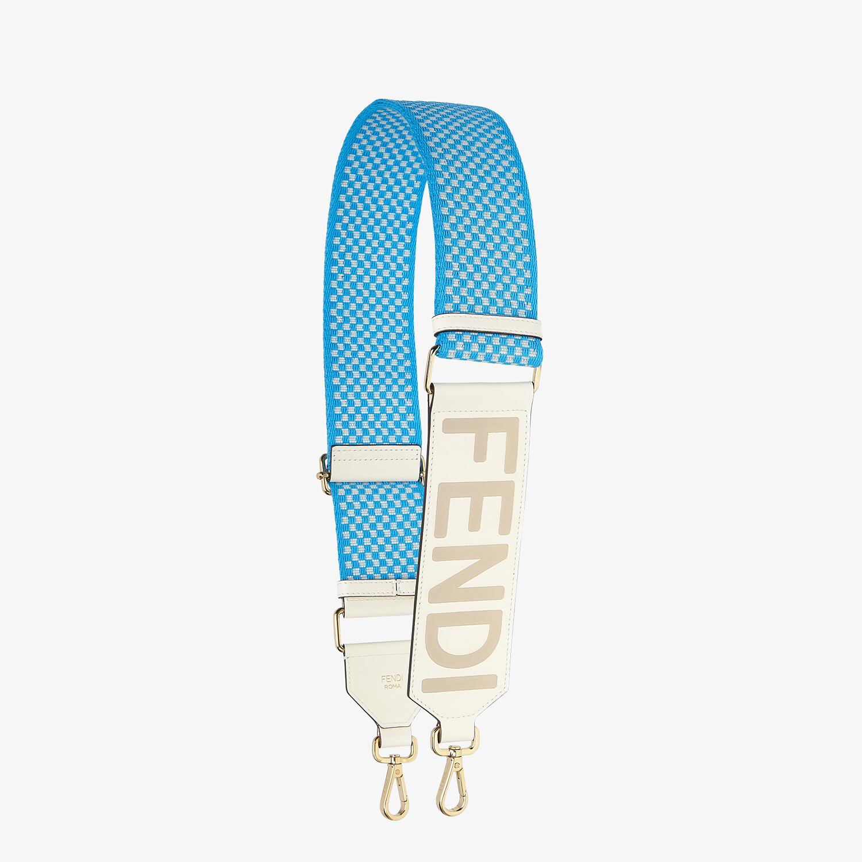 FENDI STRAP YOU - Check ribbon shoulder strap - view 1 detail