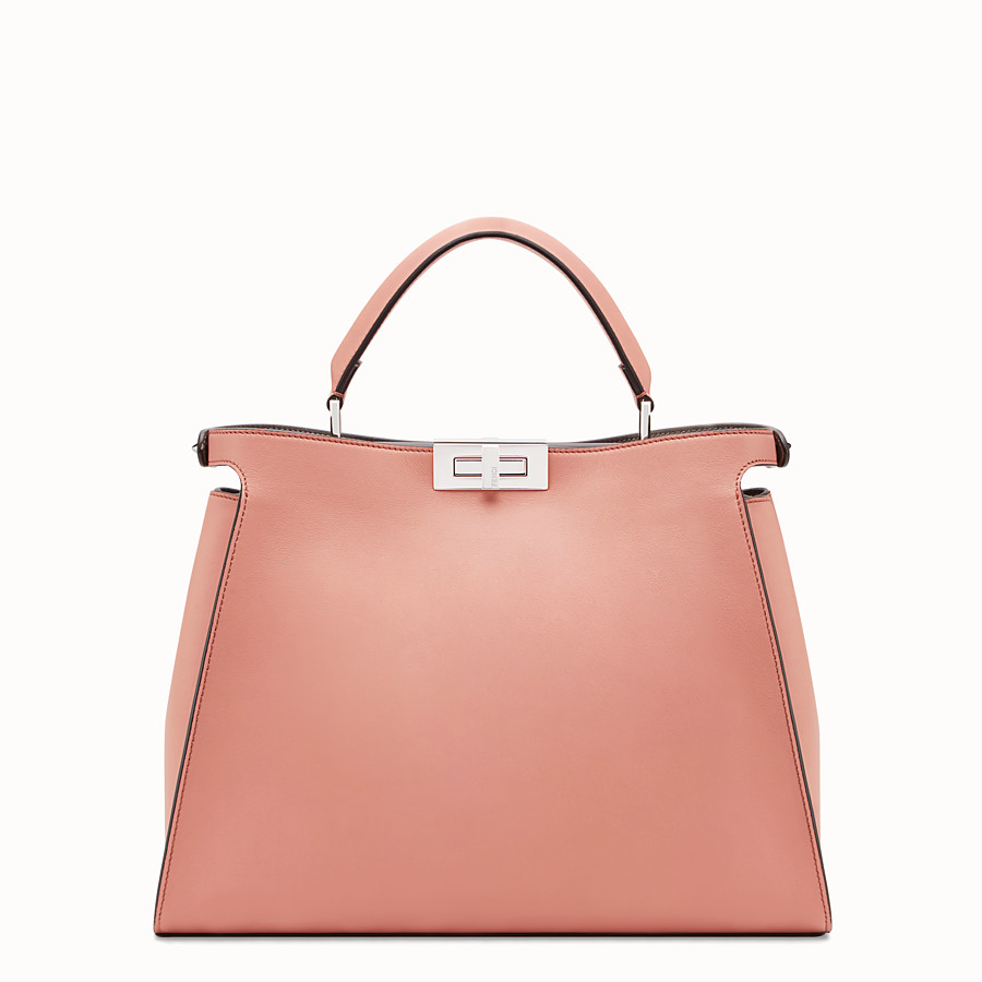 FENDI PEEKABOO ESSENTIAL - Tasche aus Leder in Rosa - view 3 detail