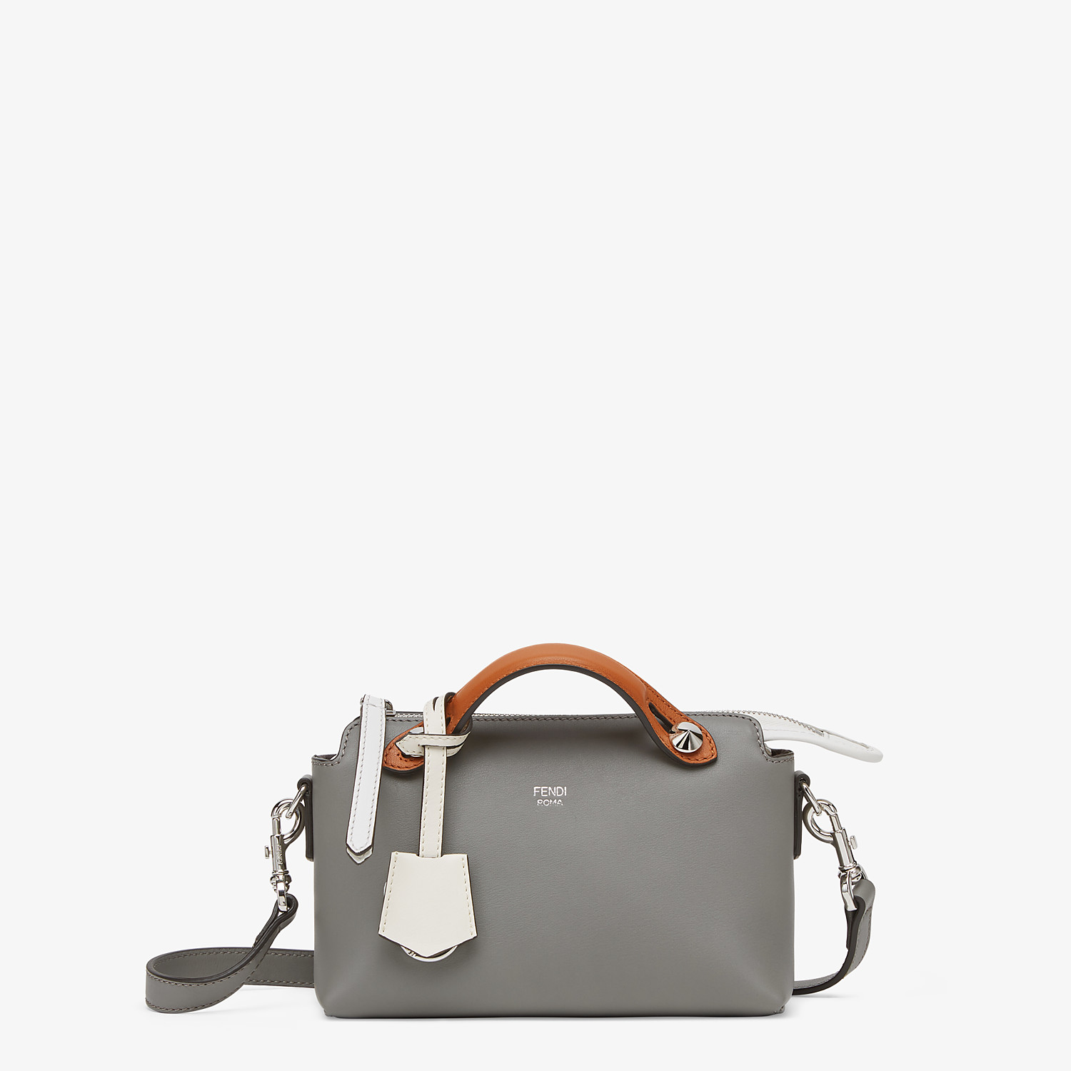 FENDI BY THE WAY MINI - Gray leather Boston bag - view 1 detail