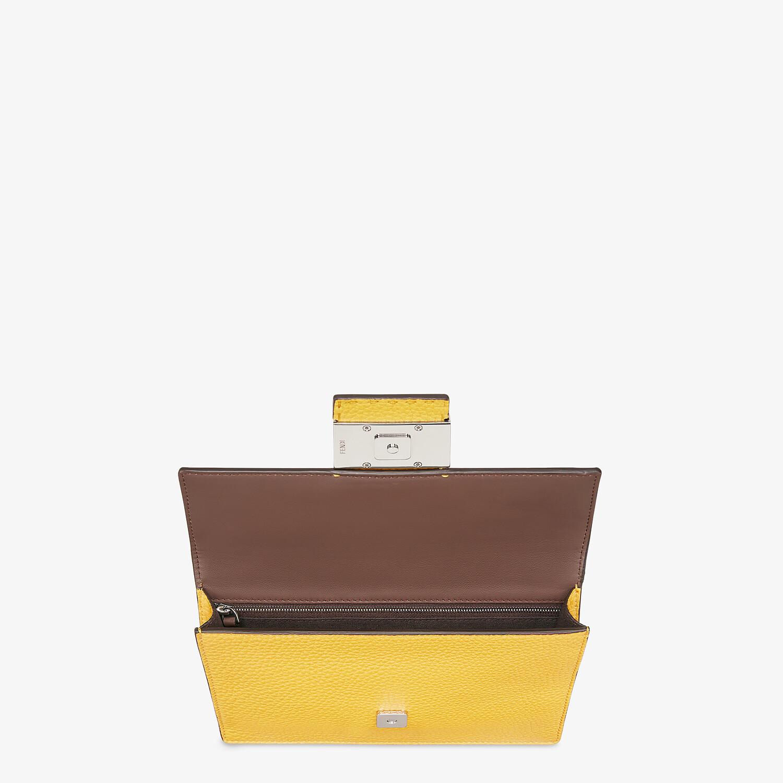 FENDI FLAT BAGUETTE - Yellow leather bag - view 4 detail
