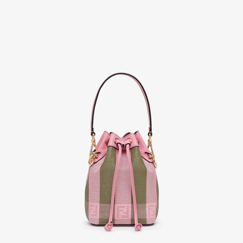FENDI MON TRESOR - Pink raffia mini bag - view 1 detail