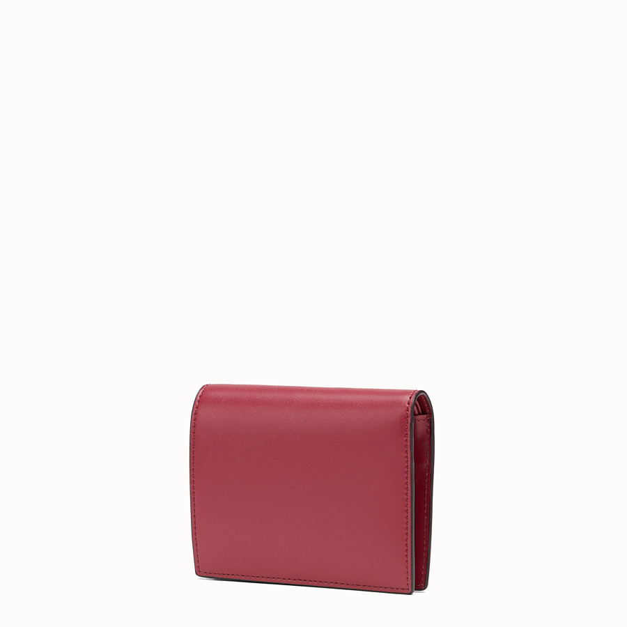 FENDI BIFOLD - Red compact leather wallet - view 2 detail