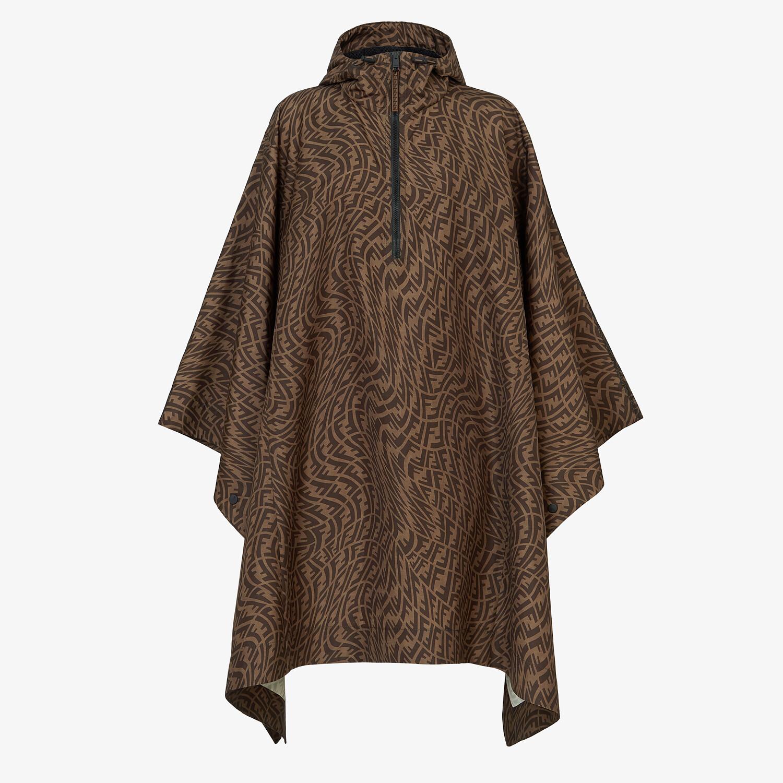 FENDI CLOAK - Brown nylon cape - view 1 detail
