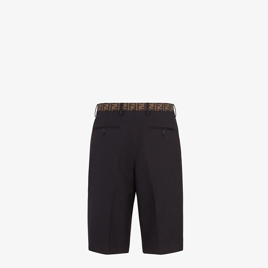 FENDI TROUSERS - Black trousers in tech gabardine - view 2 detail