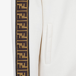 FENDI SWEATSHIRT - White cotton jersey sweatshirt. - view 3 thumbnail