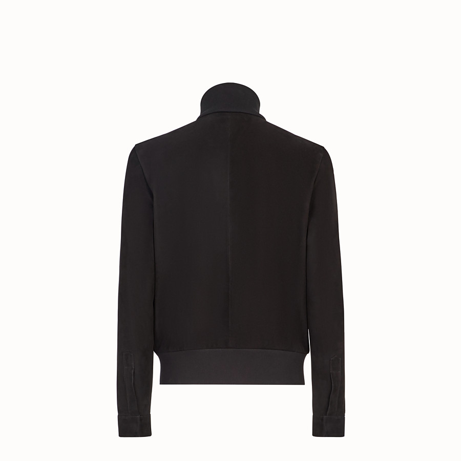 FENDI BLOUSON JACKET - Black suede leather jacket - view 2 detail