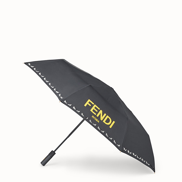 FENDI UMBRELLA - Black tech fabric umbrella - view 1 small thumbnail