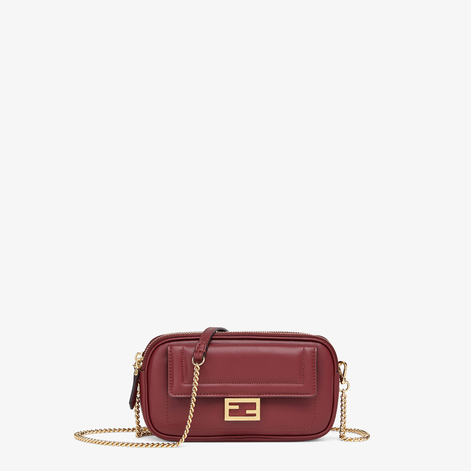 FENDI EASY 2 BAGUETTE - Minibag in pelle bordeaux - vista 1 dettaglio