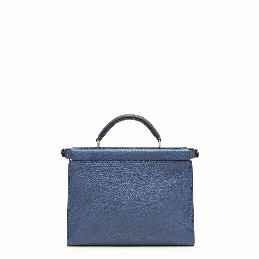 FENDI MINI PEEKABOO FIT - Blue leather bag - view 3 detail
