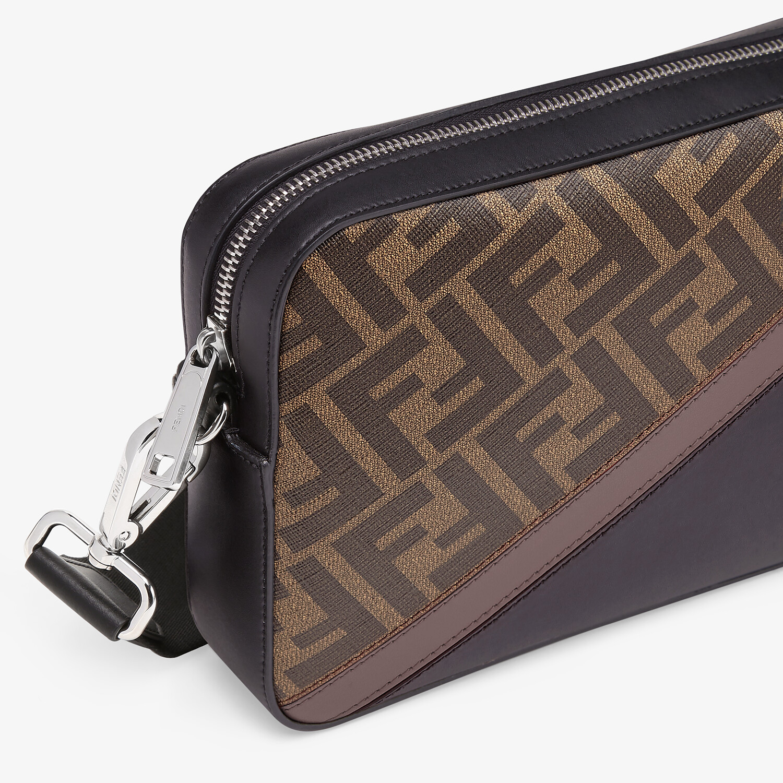 FENDI CAMERA CASE - Brown fabric bag - view 5 detail