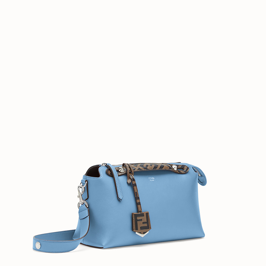 FENDI BY THE WAY REGULAR - Pale blue leather Boston bag - view 2 detail