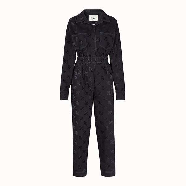 FENDI  - Black denim jumpsuit - view 1 small thumbnail