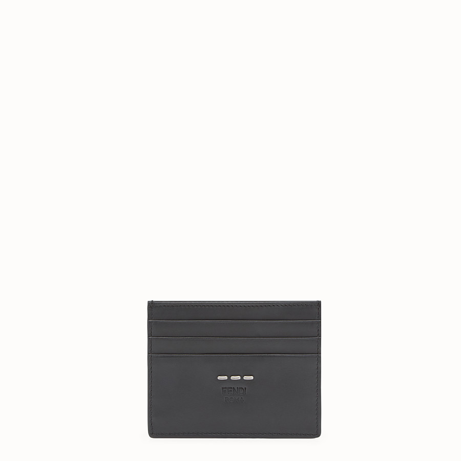FENDI CARD HOLDER - Black leather 6-slot card holder - view 1 detail