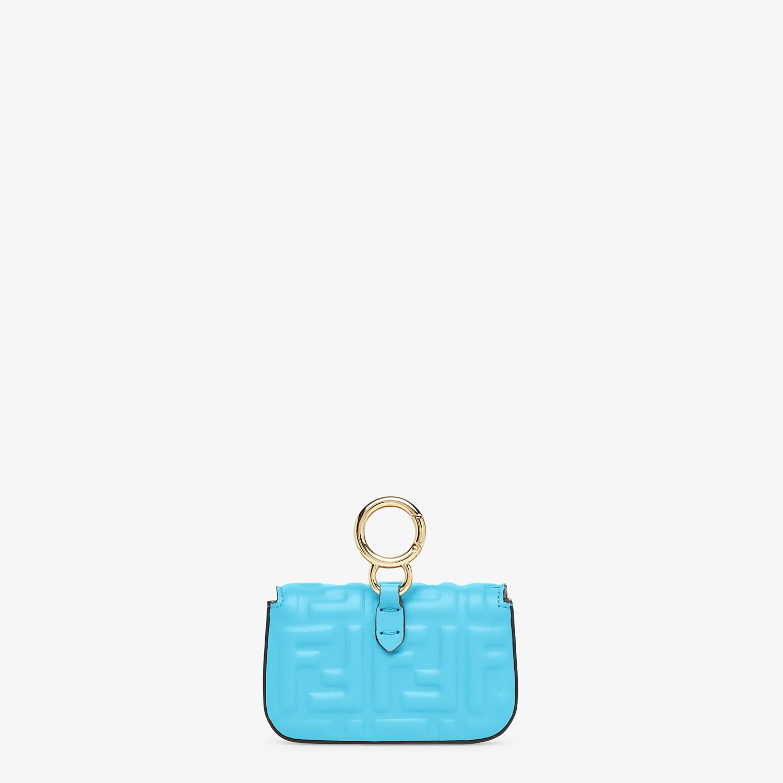 FENDI NANO BAGUETTE CHARM - Light blue nappa leather - view 4 detail